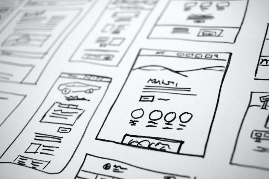 smartphone screenshots illustration